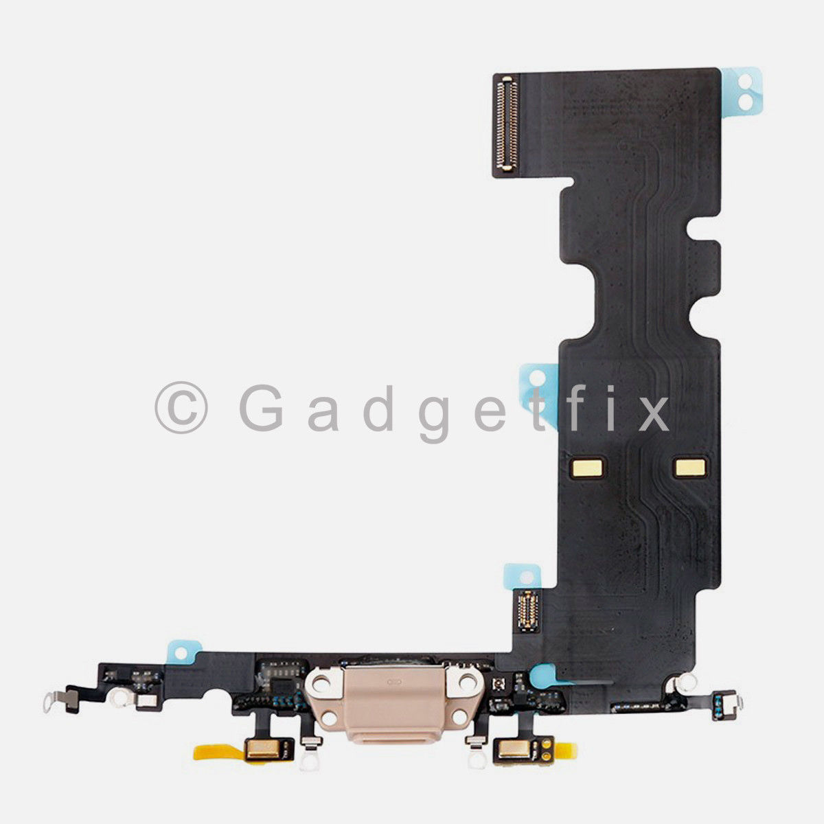 Gold USB Lightning Charging Port Dock Flex Cable Replacement For iPhone 8 Plus