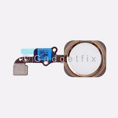Gold iPhone 6 Plus Home Button Flex Cable Fingerprint Touch ID Sensor Connector