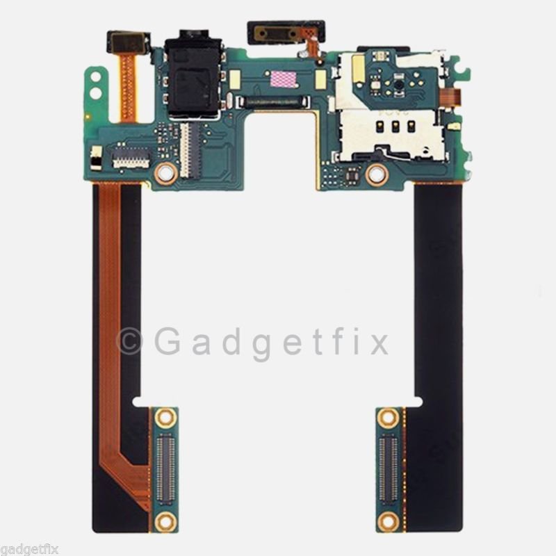 HTC Droid DNA Butterfly Headphone Jack Simcard Sim Slot Holder Power Flex Cable