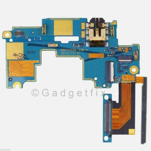 HTC One M7 801n 801e Headphone Audio Jack Power Volume Connector Main Board Flex