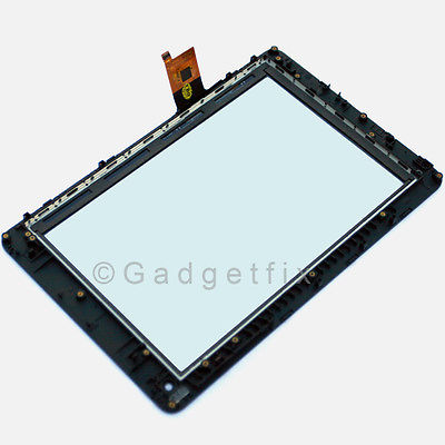 Huawei MediaPad s7-301 S7-303u Outer Glass Touch Digitizer Screen Panel + Frame