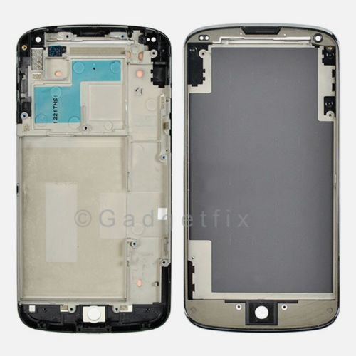 LG Google Nexus 4 E960 Faceplate Bezel Front Housing Mid Chasis Frame Adhesive