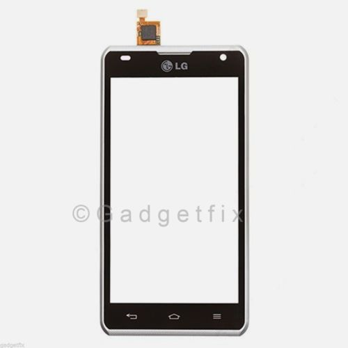 LG Spirit MS870 Front Touch Lens Glass Screen Digitizer + Frame Faceplate Panel