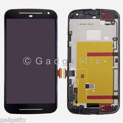 LCD Display Touch Screen Digitizer + Frame For Motorola Moto G 2nd Gen XT1064 XT1068