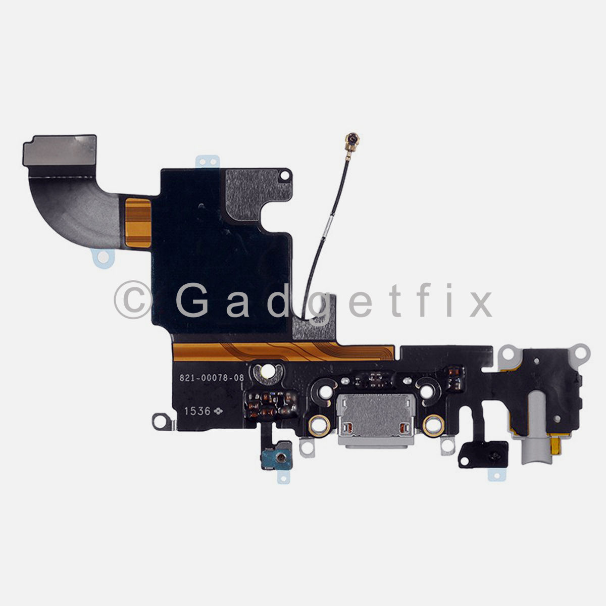 Light Gray Charging Charger Port Dock Headphone Jack Mic Flex Cable for Iphone 6S