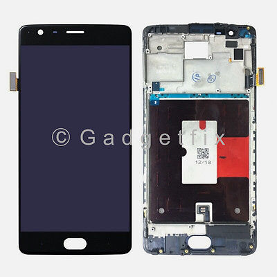 OLED LCD Display Touch Screen Digitizer + Frame Replacement For OnePlus 3T A3010