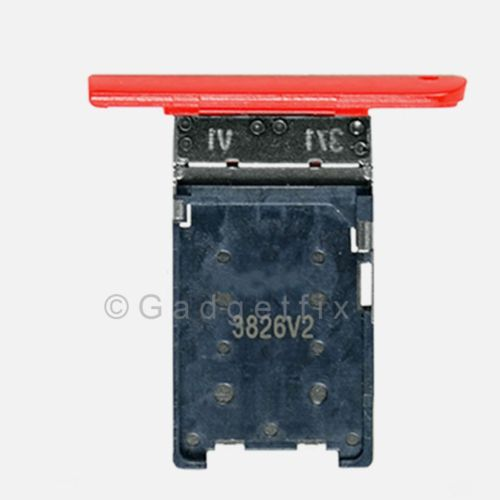 Nokia Lumia 1520 Bandit SimCard Holder Sim Tray Card Slot Red Part USA