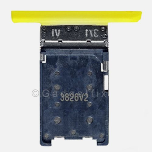 Nokia Lumia 1520 Bandit SimCard Holder Sim Tray Card Slot Yellow Part US