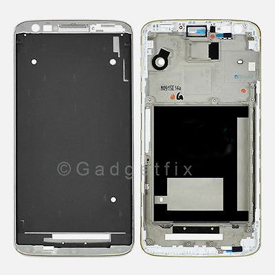 OEM LG G2 D800 D801 D802 D803 Housing Cover Bezel Middle Frame Faceplate White