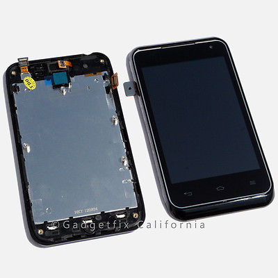 OEM LG Motion 4G MS770 LCD Display Screen Touch Digitizer Assembly + Frame Parts