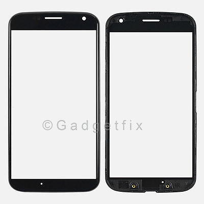 Glass Lens Screen +  Front Bezel Frame Housing For Motorola Moto X XT1055 XT1056