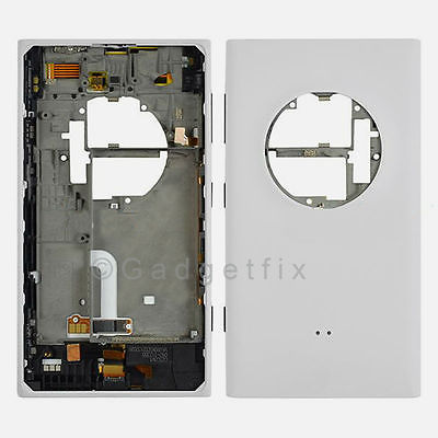 Nokia Lumia 1020 Back Cover Housing + Power Volume Charger Port Flex White