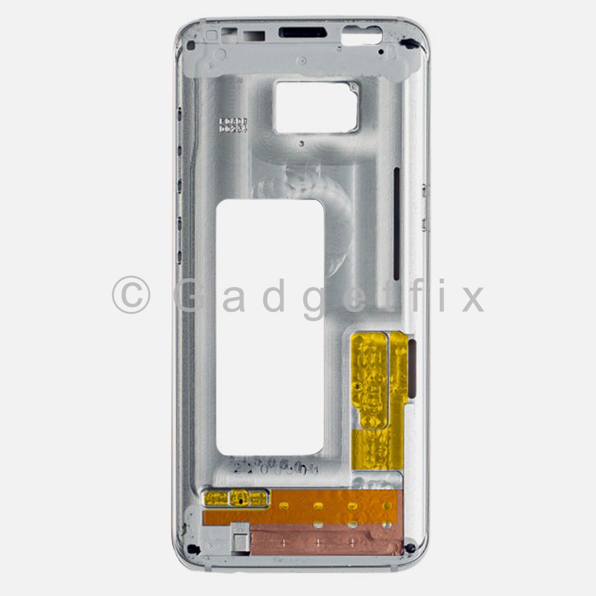 oem silver samsung galaxy s8 lcd holder middle frame bezel mid chassis housing 232456565069. Black Bedroom Furniture Sets. Home Design Ideas