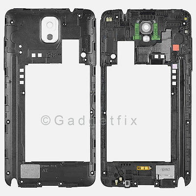 OEM White Samsung Galaxy Note 3 N900A N900T Back Frame Rear Housing Camera Lens