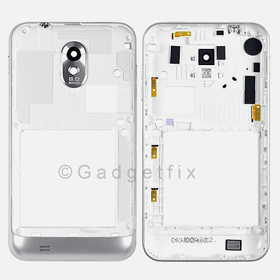 White Samsung Galaxy S2 Epic 4G D710 Back Housing Bezel Frame + Camera Lens