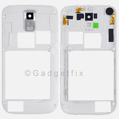 White Samsung Galaxy S2 II T989 Back Housing Bezel Frame Chassis Camera Lens