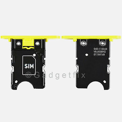 Yellow Nokia Lumia 1020 SimCard Holder Sim Card Tray Replacement Parts USA