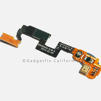 Original OEM AT&T HTC One X Power On Off Microphone Connector Flex Cable Ribbon
