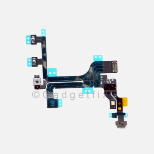 Power Mute Volume Button Switch Connector Flex Cable Ribbon + Mic for iphone 5C