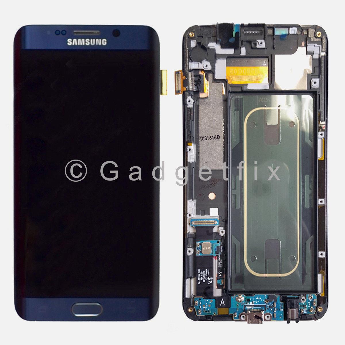 New Samsung Galaxy S6 Edge Plus G928A G928T LCD Touch Screen Digitizer Frame