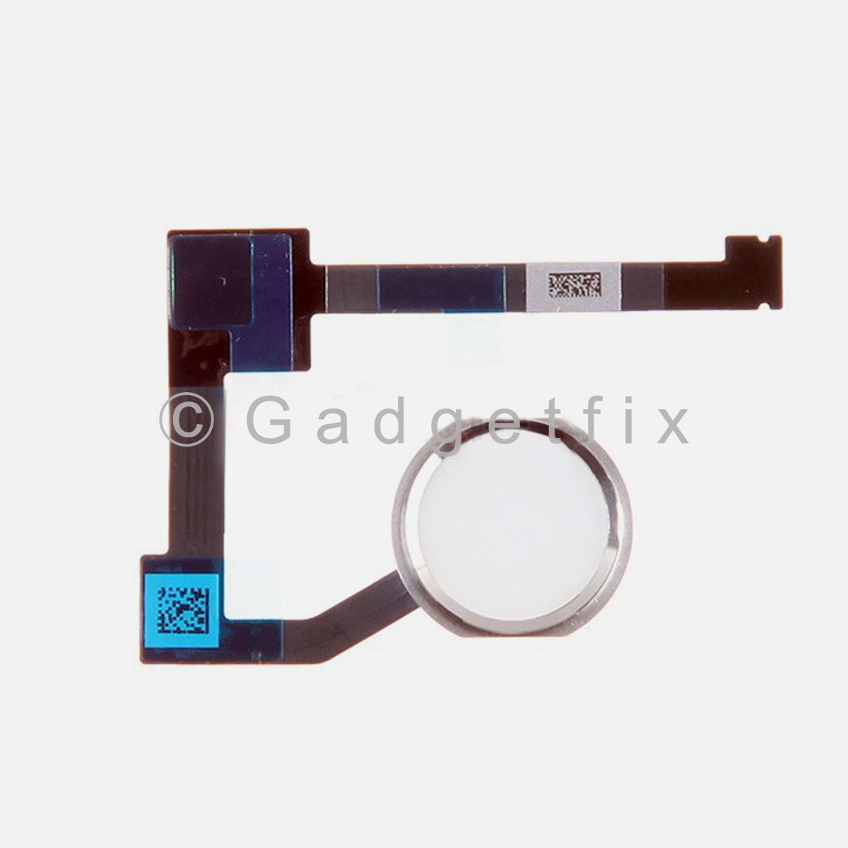 Silver Home Menu Button Flex Cable Replacement Part for iPad Air 2 A1566 A1567