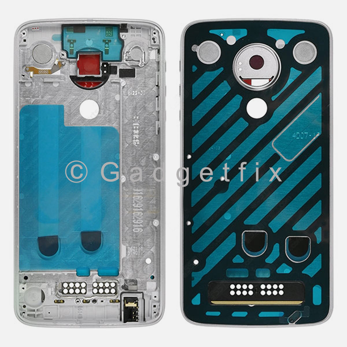 Silver LCD Middle Frame Bezel For Motorola Moto Z Play XT1635-02 | Droid XT1635-01