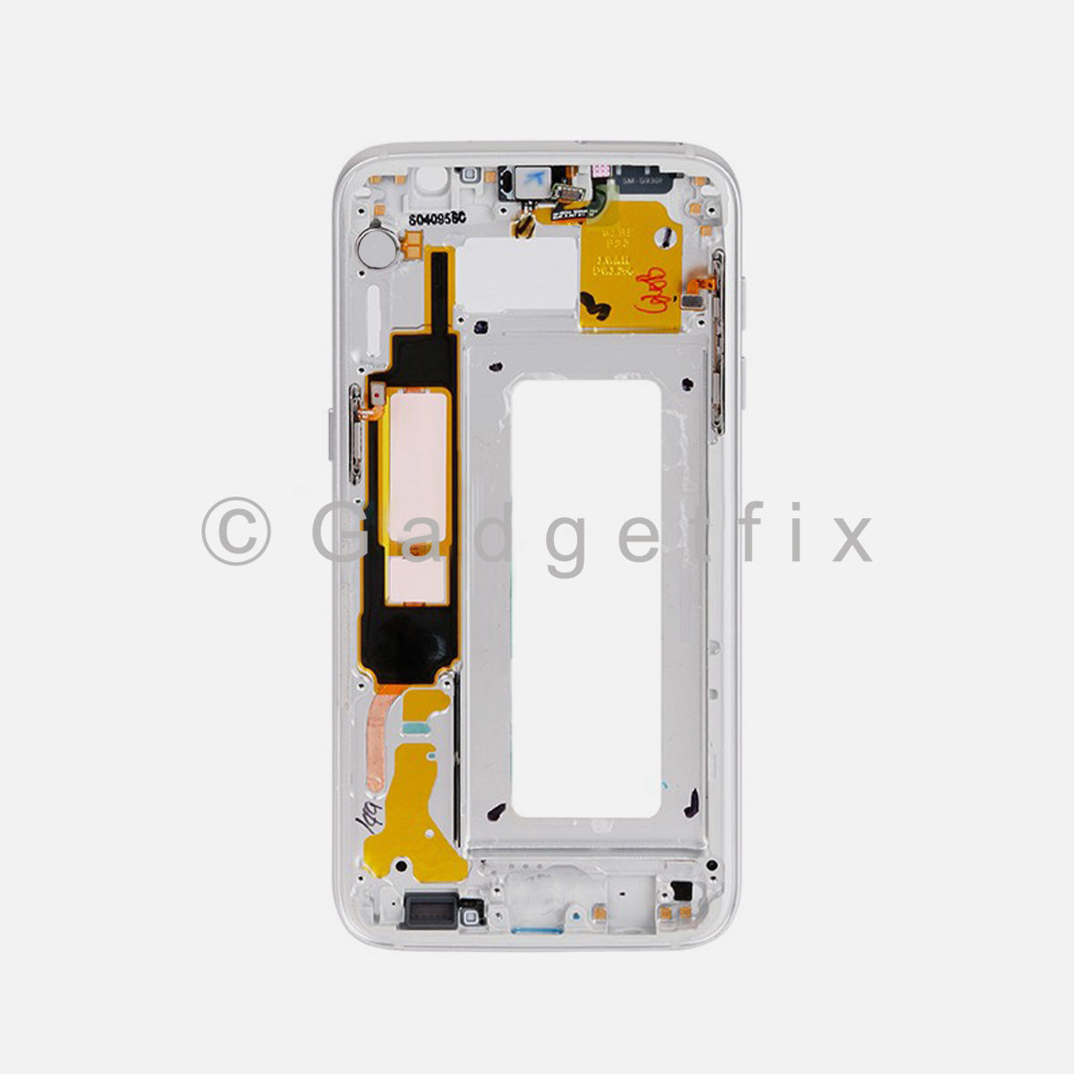 Silver Samsung Galaxy S7 Edge LCD Holder Middle Housing Frame Bezel Mid Chassis