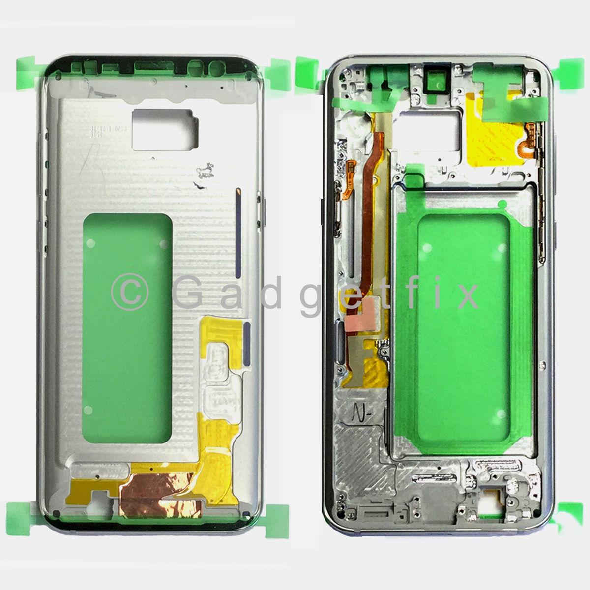 Silver Samsung Galaxy S8 Plus G955A G955T G955V G955P Middle Housing Frame Bezel Mid Chassis