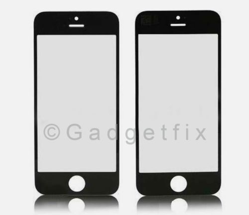 USA Black Front Outter Top Glass Lens Cover Screen Repair Part for iphone 5S