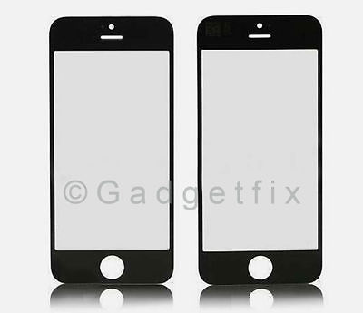 USA Black Front Outter Top Glass Lens Cover Screen Repair Part for iphone 5