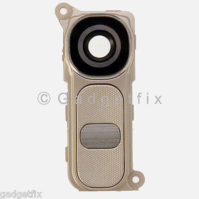 USA Gold LG G4 H815 H810 H811 VS986 Camera Glass Lens Cover Frame Holder Button
