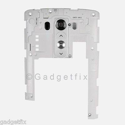 USA LG G3 D850 D851 D855 VS985 LS990 F400 Back Housing Frame Camera Lens White