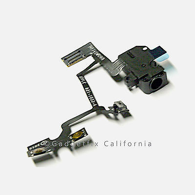USA New Black Headphone Headset Audio Jack Flex Cable Ribbon for iPhone 4 GSM