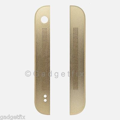USA OEM HTC One 801e M7 Top & Bottom Front Face Cover Housing Gold Replacement