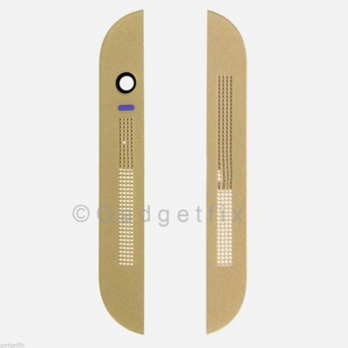 USA OEM HTC One M8 831C Top & Bottom Front Cover Bezel Housing Gold + Adhesive