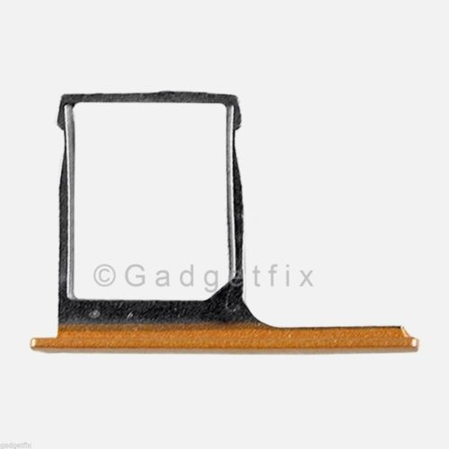 USA OEM HTC One M8 SimCard Reader Holder Sim Tray Slot Gold Replacement Part