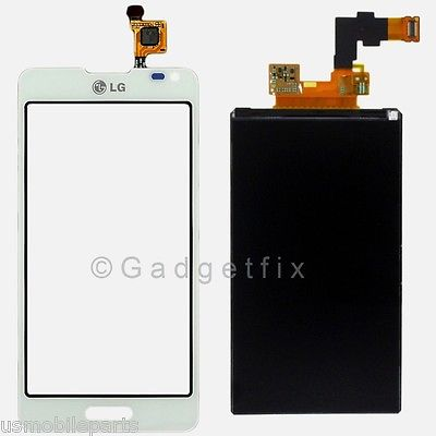 USA OEM LG Optimus F6 D500 D505 LCD Dispaly Screen + Touch Digitizer Glass White