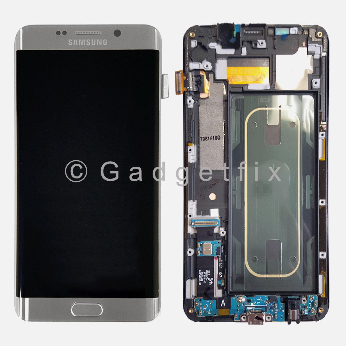 USA Silver Samsung Galaxy S6 Edge+ Plus G928F LCD Touch Screen Digitizer + Frame
