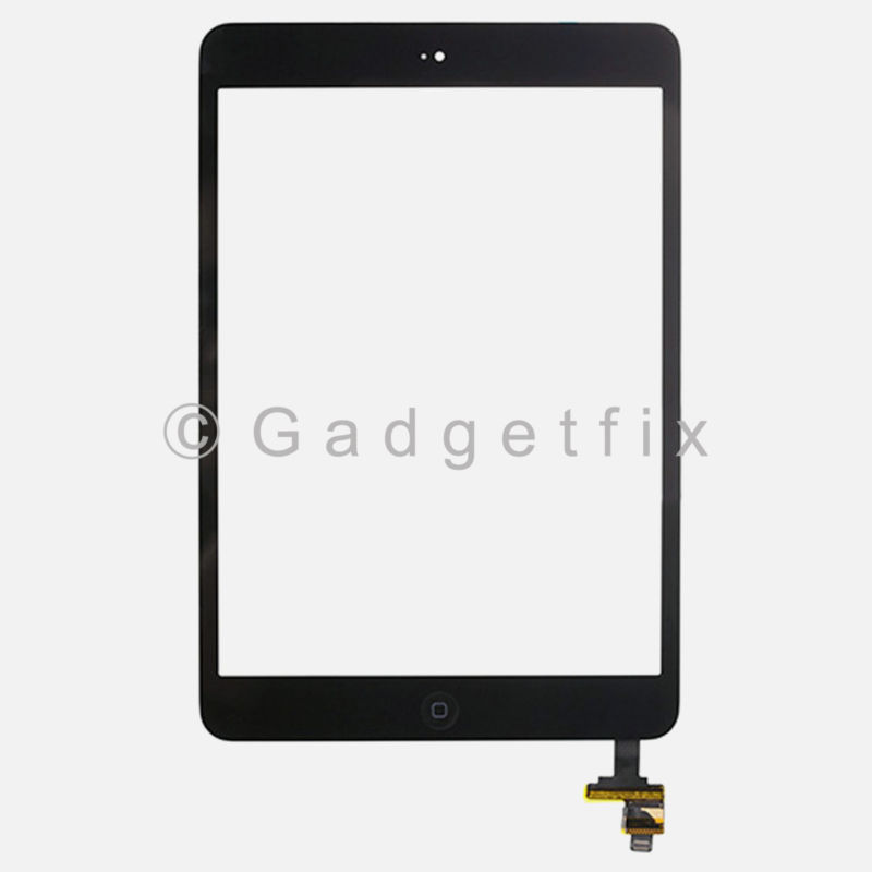 Touch Screen Glass Digitizer IC Connector Home Button Flex for Ipad Mini 1 2