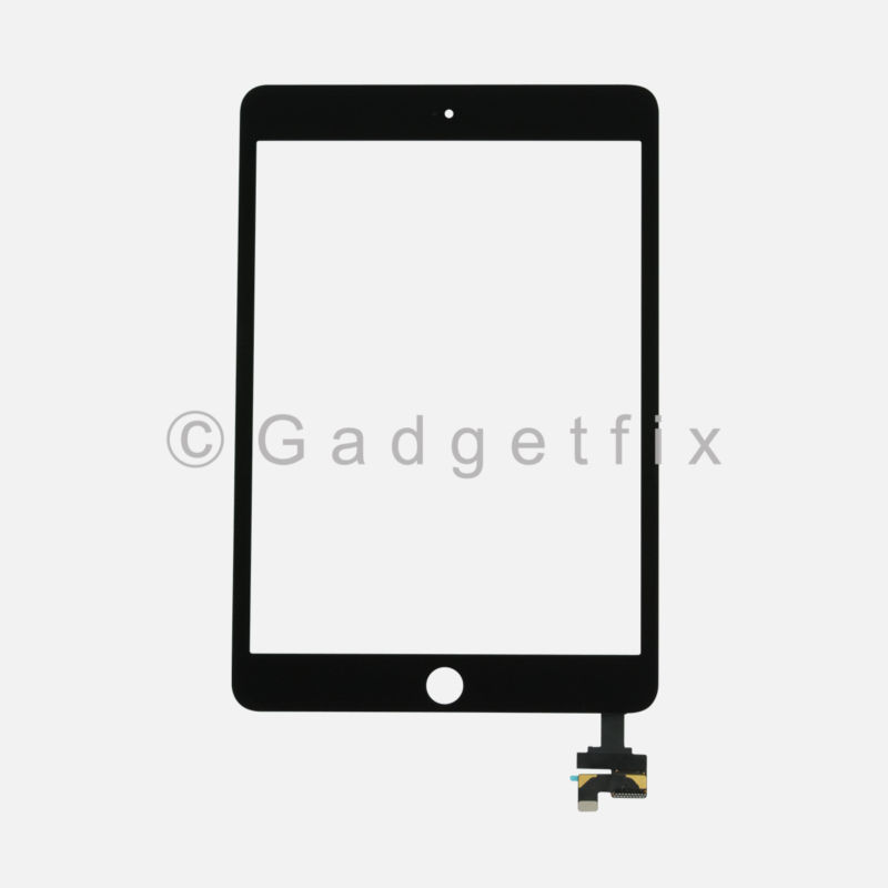 USA Touch Screen Glass Digitizer + IC Flex Connector Assembly for Ipad Mini 1 2