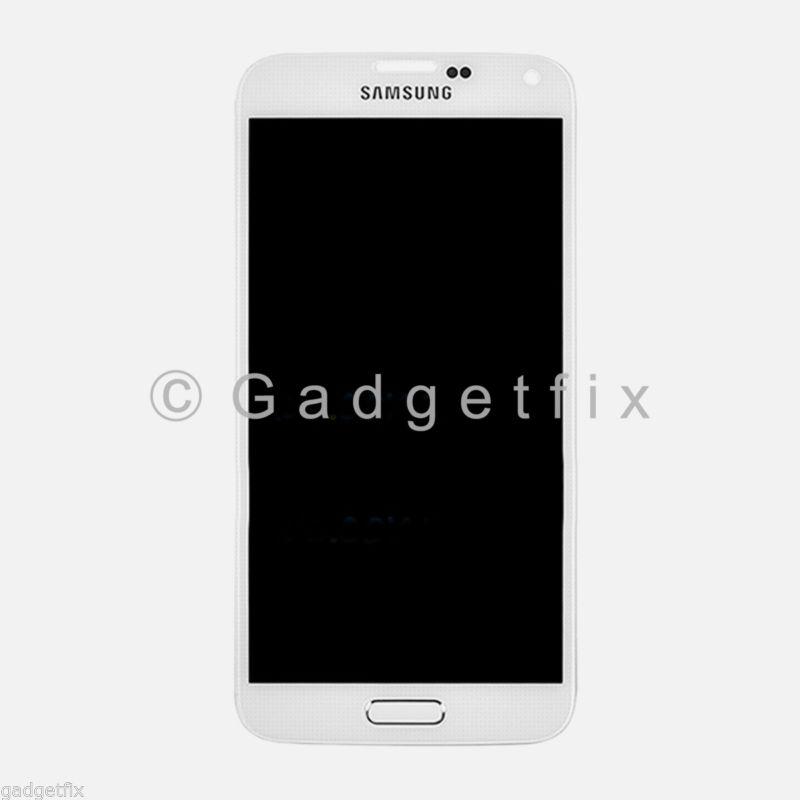 White Samsung Galaxy S5 G900A G900T G900V G900P LCD Screen Touch Digitizer