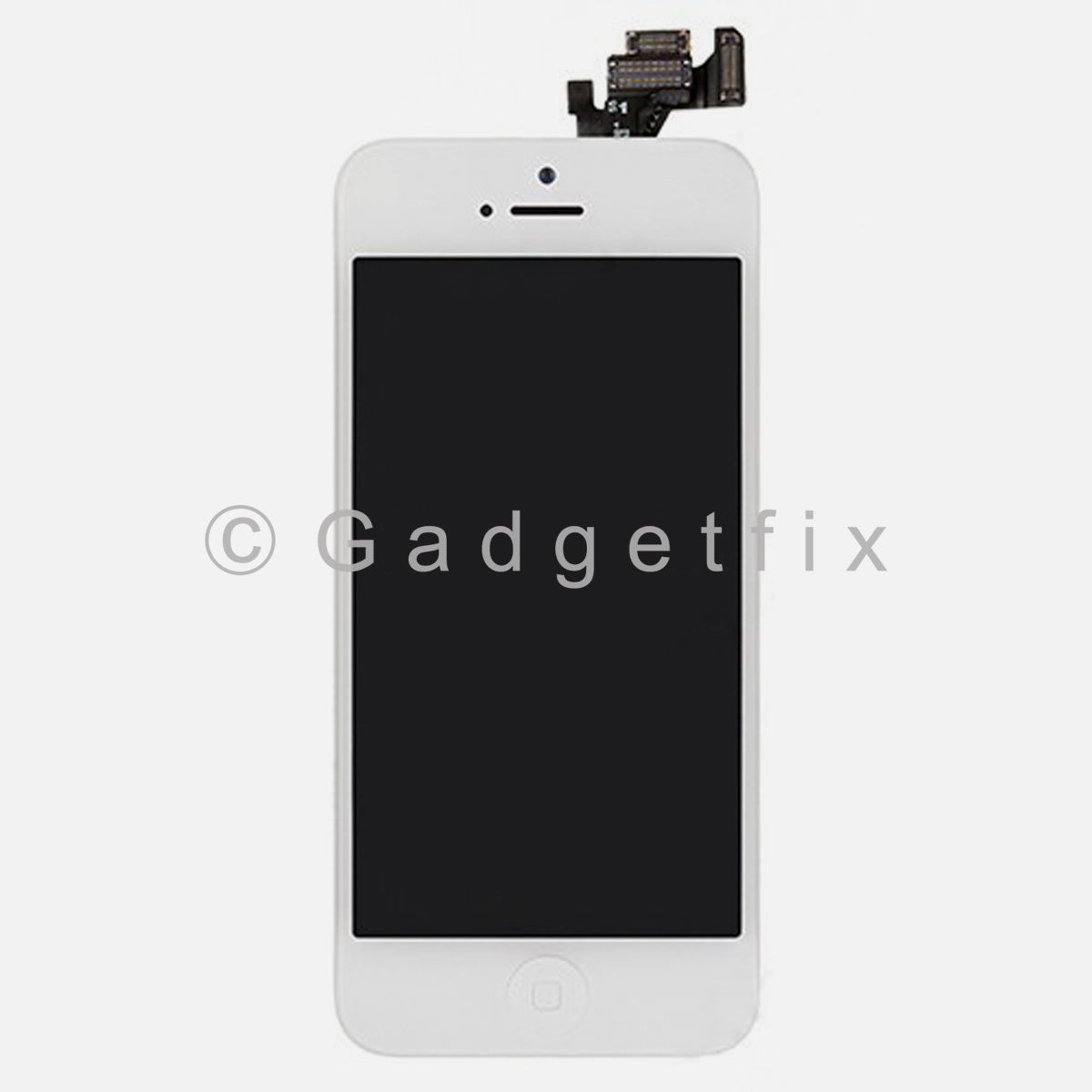 White Touch Screen Digitizer LCD Display Button + Camera + Button for iPhone 5