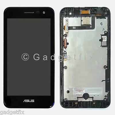 US Asus PadFone X Mini T00S LCD Screen Digitizer Touch Panel Glass + Frame Bezel