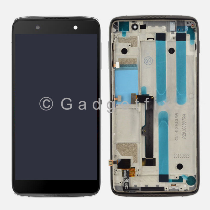 Black Alcatel One Touch Idol 4 6055Y 6055K 6055B 6055U 6055P LCD Touch Digitizer Assembly Frame