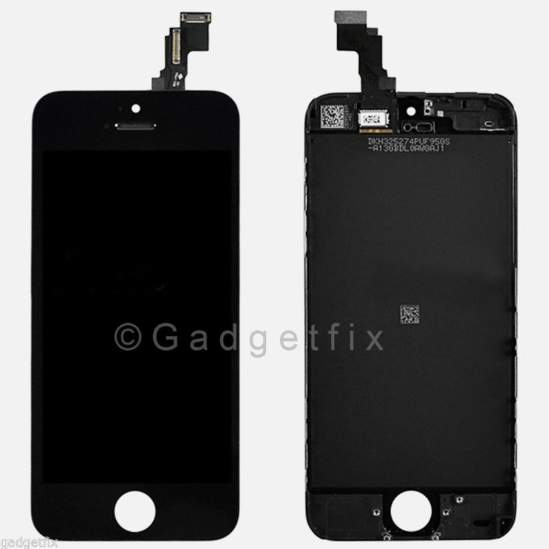 Black Front Housing LCD Display Touch Digitizer Screen Assembly for iphone 5C