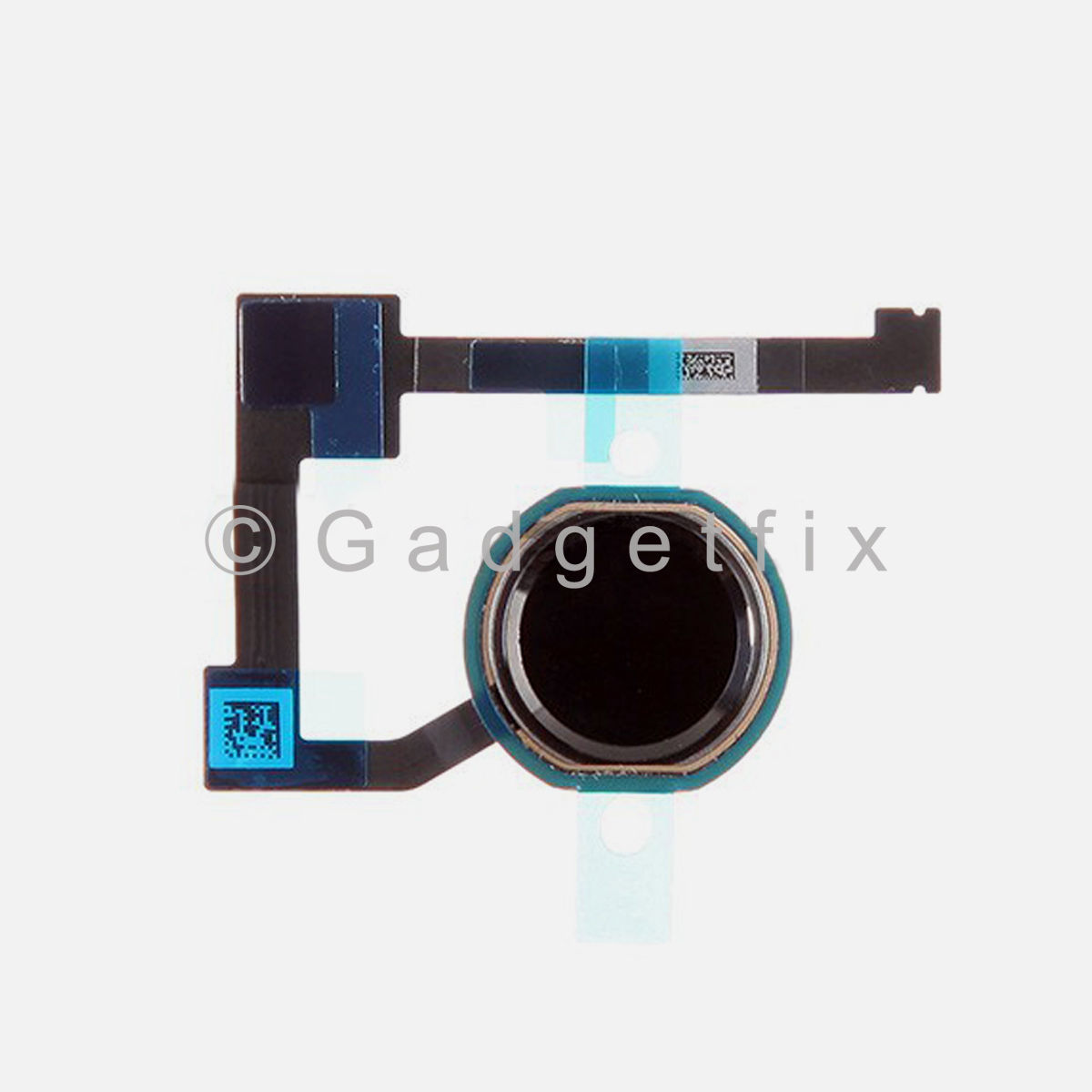Black Home Menu Button Flex Cable Replacement Part for iPad Air 2 A1566 A1567