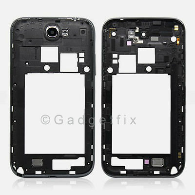 US Black Samsung Galaxy Note 2 II i605 L900 Back Housing Chassis Frame Bezel OEM