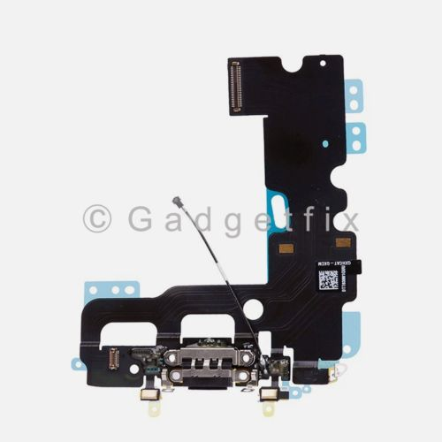 Black iPhone 7 Charging Charger Port Flex Cable Mic Antenna Replacement Parts
