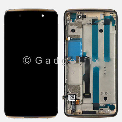 Gold Display LCD Touch Screen Digitizer Glass + Frame For Blackberry DTEK50