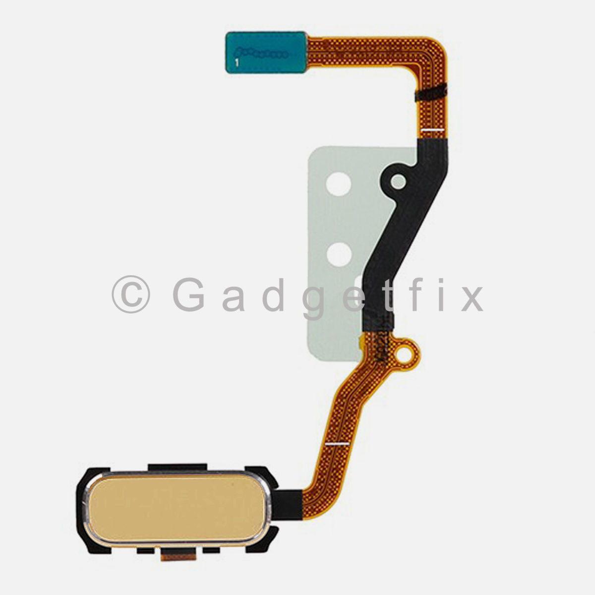 Gold Home Button with Flex Cable Replacement Parts For Samsung Galaxy S7 Edge